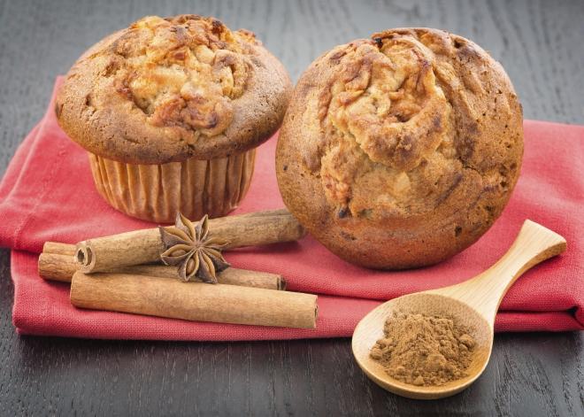 Muffins aux pommes sos les Papilles