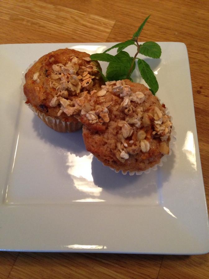 Muffins aux ananas et carottes